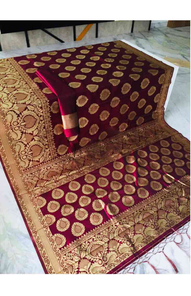"""Classic Rani Color Silk Party Wear Saree With Blouse Piece  30"""""""