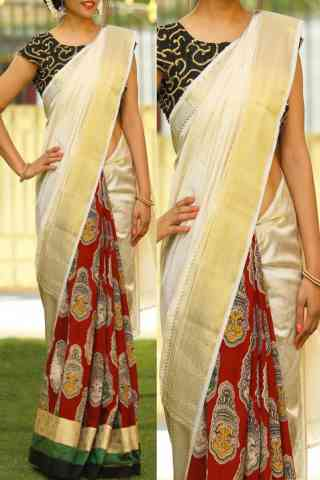 vibrant Multi  Color Soft Silk Saree - cnd773