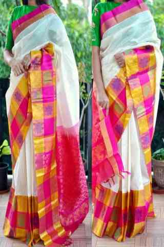 glitzy Multi Color Soft Silk Saree - cnd779