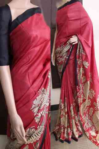 Delightful Red Color Soft Silk Saree - cnd782