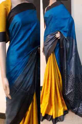 Exclusive Blue Color Soft Silk Saree - cnd783
