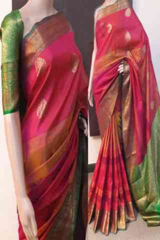 Forever Multi Color Soft Silk Saree - cnd784