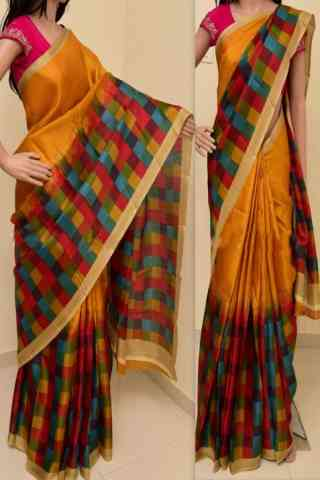 Modish Multi Color Soft Silk Saree - cnd788