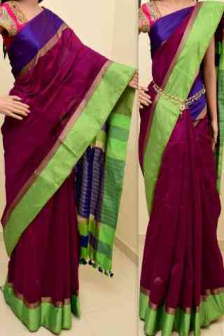 Artistic  Multi Color Soft Silk Saree - cnd797