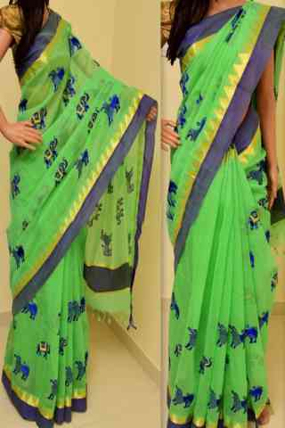 Delightful Green Color Soft Silk Saree - cnd804