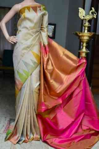 Beautiful  Multi Color Soft Silk Saree - cnd807