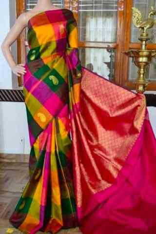 Graceful  Multi Color Soft Silk Saree - cnd809