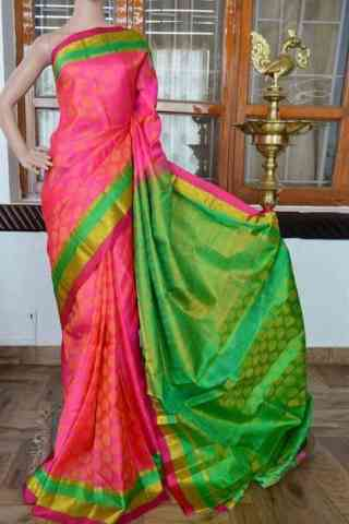 Pleasurable Pink Color Soft Silk Saree - cnd811