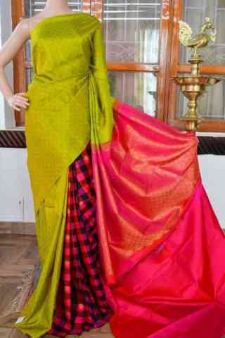 Dynammic Multi Color  Soft Silk Saree - cnd826