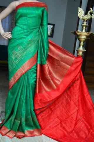 Delightful Green Color  Soft Silk Saree - cnd832