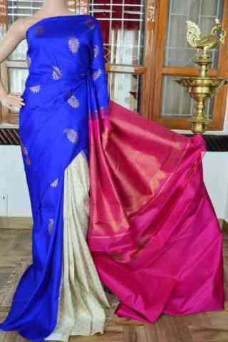 Forever Multi Color  Soft Silk Saree - cnd833