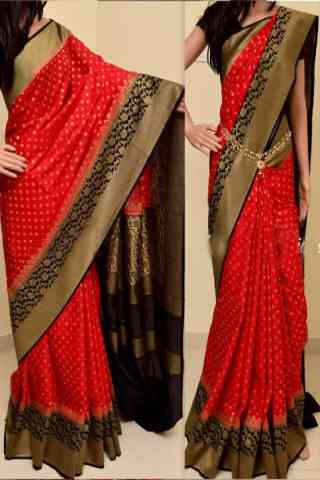 Awe Inspiring Red Color Soft Silk Saree - cnd848