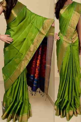 Unique Green Color Soft Silk Saree - cnd863