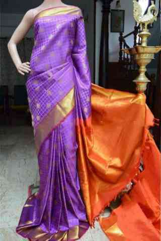 Engrossing Purple Color Soft Silk Designer Saree - cnd876