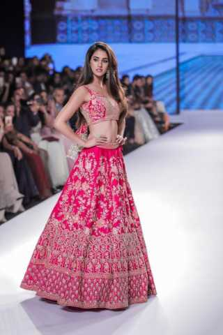 Pink Colored Embroidery Work lehenga choli BFLC263