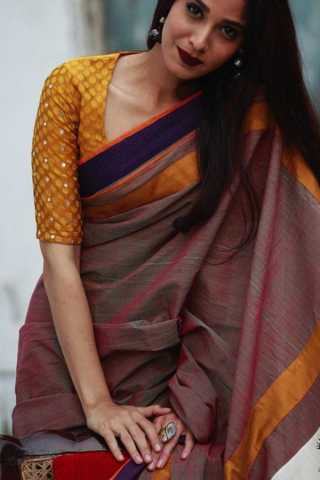 Desirable Multi Colored Soft Silk Saree - CD110