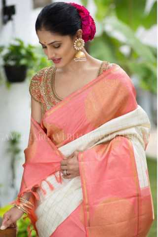 Glorious Pink Colored Soft Silk Saree - CD116