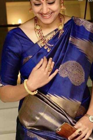 Exclusive Blue Colored Soft Silk Saree - CD135