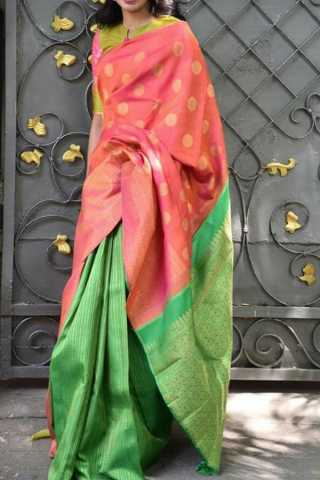 Gorgeous Multi Colored Soft Silk Saree - CD150
