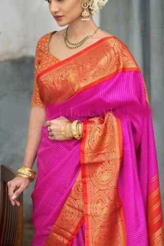 Delightful Pink Colored Soft Silk Saree - CD162
