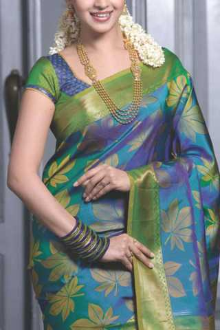 Attractive Multi Colored Soft Silk Saree - CD178