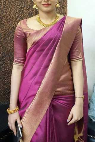 Awesome Pink Colored Soft Silk Saree - CD179