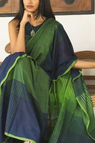 Blooming Green Colored Soft Silk Fancy Partywear Functional Saree - CD199