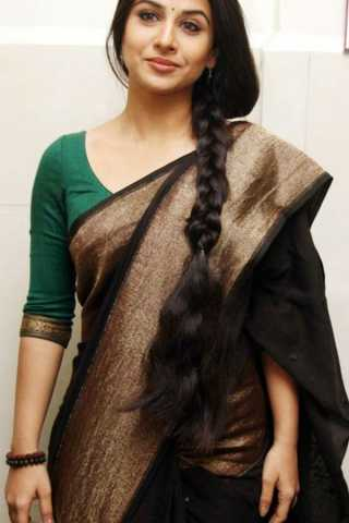 Adorable Black Colored Soft Silk Fancy Partywear Functional Saree - CD209