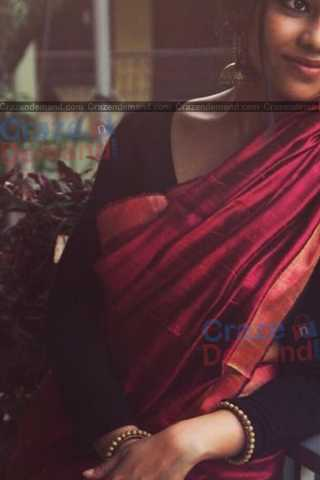 Charming Maroon Colored Designer Festive Wear Soft Silk Partywear Saree - CD241