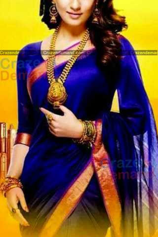 Graceful Blue Colored Designer Soft Silk Navratri Special Saree - CD269