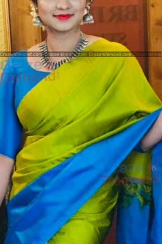 Amazing Green Colored Designer Soft Silk Navratri Special Saree - CD271