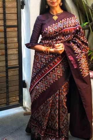 Multicolour with Beautiful Pattern Soft Silk Saree