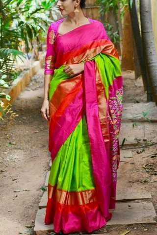 Beautiful and Stunning Multicolour Sift Silk Saree