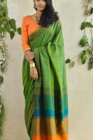 Soothing and Stunning Multicolour Soft Silk Saree