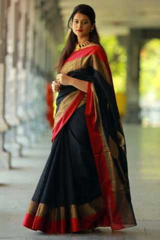 Bold and Gorgeous Multicoloured Soft Silk Saree