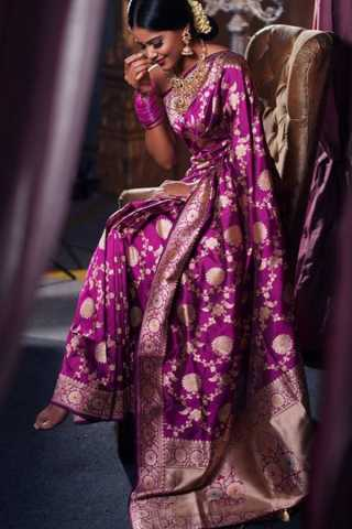 Grand Purple Soft Silk Saree with Heavy Pallu