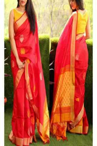 Pink Color Soft Silk Designer Sarees-CND01