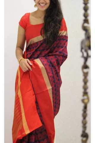 Refreshing Red Color Soft Silk Designer Sarees - CND1196