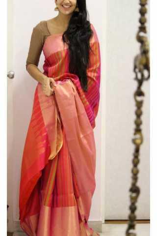 Latest Multi Color Soft Silk Designer Sarees - CND1238