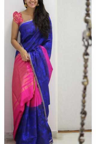Amazing Blue Color Soft Silk Designer Sarees - CND1272