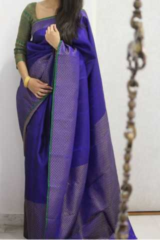 Divine Blue Color Soft Silk Designer Sarees - CND1293
