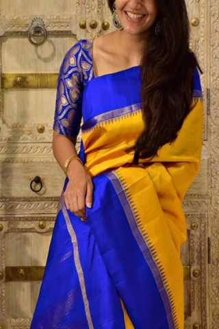 Ultimate Yellow Color Soft Silk Designer Sarees - CND1295