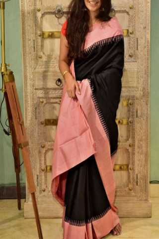 Mind Blowing Black Color Soft Silk Designer Sarees - CND1299