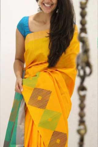 Royal Yellow Color Soft Silk Designer Sarees - CND1321