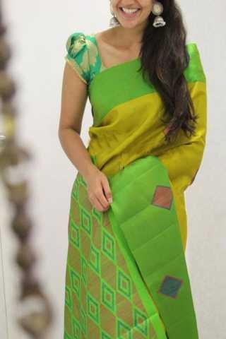 Classic Green Color Soft Silk Designer Sarees - CND1333