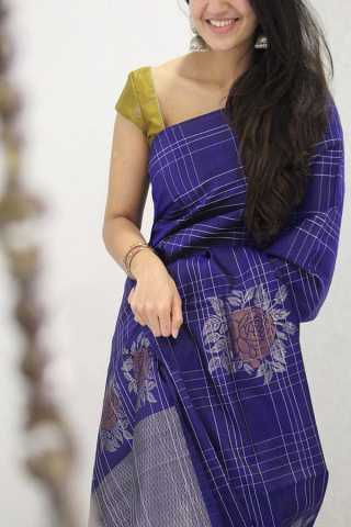 Flattering Blue Colored Soft Silk Party Wear Saree