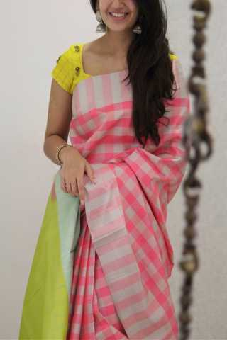 Pleasant Pink Colored Soft Silk Party Wear Saree