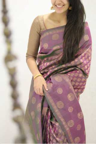 Prominent Pink Colored Designer Soft Silk Party Wear Saree