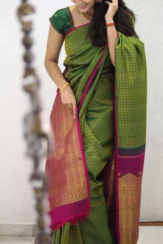 Amazing Green Colored Designer Soft Silk Party Wear Saree