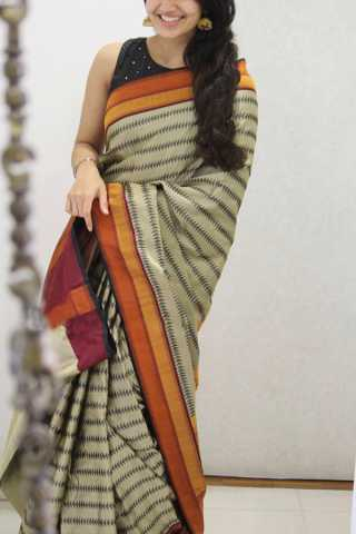 Gorgeous Multi Colored Soft Silk Party Wear Saree